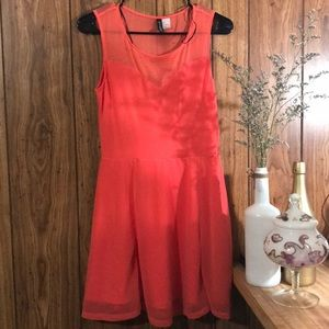 Divided from H&M peach sleeveless dress